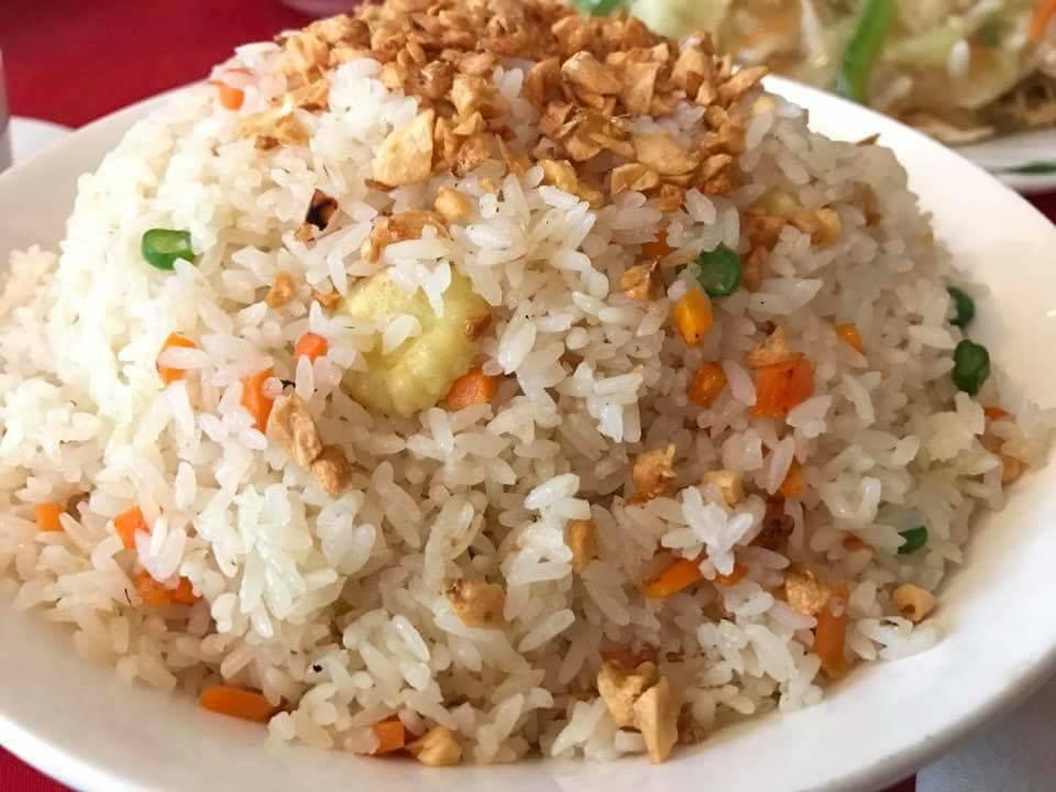 china pearl burnt garlic fried rice